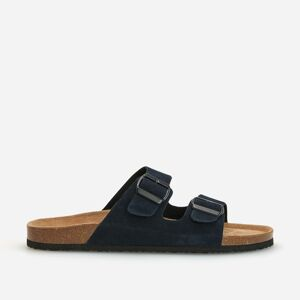 Reserved - Men`s strappy sandals - Tmavomodrá