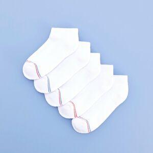 Reserved - Členkové ponožky, 5-Balenie - Biela