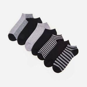 Reserved - Členkové ponožky, 7-Balenie - Šedá