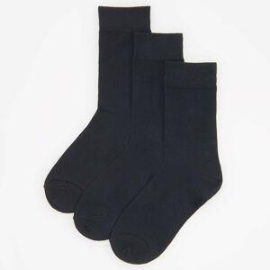 Reserved - Súprava 3 párov ponožiek z organickej bavlny - Čierna