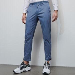 Reserved - Bavlnené nohavice chino - Modrá