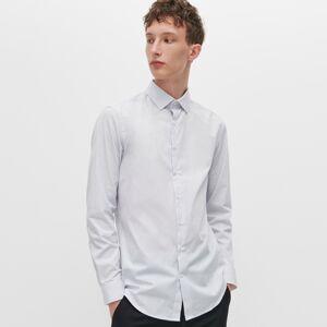 Reserved - Košeľa slim fit s jemnou potlačou - Biela