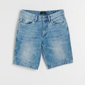 Reserved - Rifľové šortky - Modrá