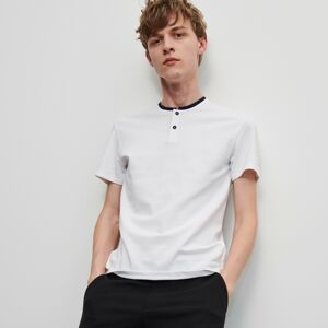 Reserved - Polo tričko so stojačikom - Biela
