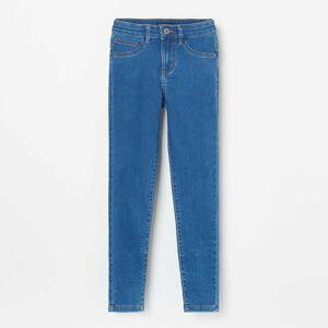 Reserved - Rifľové nohavice skinny fit - Modrá