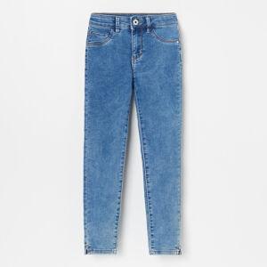 Reserved - Denimové nohavice skinny fit - Modrá