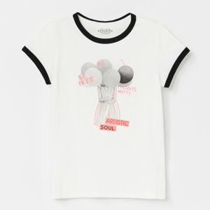 Reserved - Tričko s kontrastnou lemovkou -