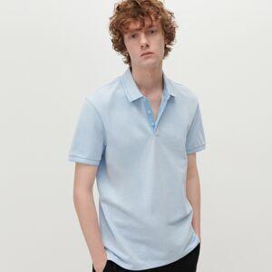 Reserved - Tričko polo z organickej bavlny - Modrá