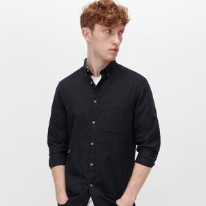 Reserved - Košeľa z organickej bavlny - Čierna