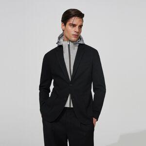 Reserved - Blejzer s reflexívnou kapucňou - Čierna