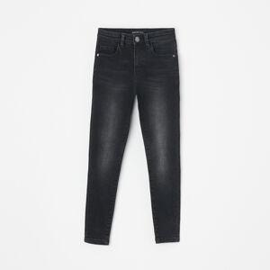 Reserved - Džínsy skinny fit s vypraným efektom - Čierna