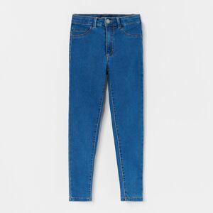 Reserved - Rifľové nohavice skinny fit - Tmavomodrá