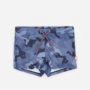 Reserved - Vzorované army plavkové šortky - Čierna