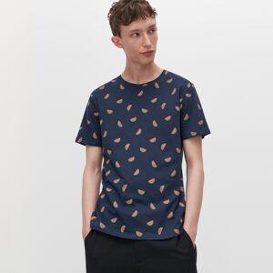 Reserved - Tričko s mikropotlačou - Tmavomodrá