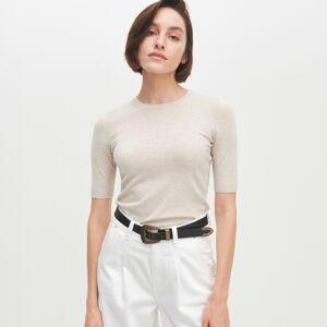 Reserved - Úpletové tričko - Béžová