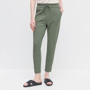 Reserved - Nohavice s elastickým pásom - Khaki