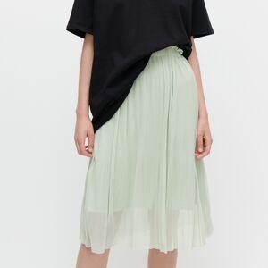 Reserved - Jemne plisovaná sukňa - Zelená