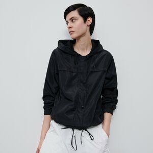Reserved - Ľahká bunda s kapucňou - Čierna