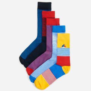 Reserved - Ponožky, 5-Balenie - Červená