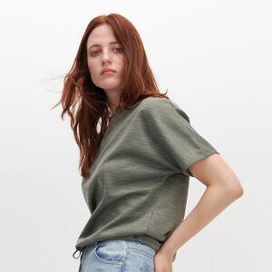 Reserved - Mikina s krátkym rukávom - Khaki