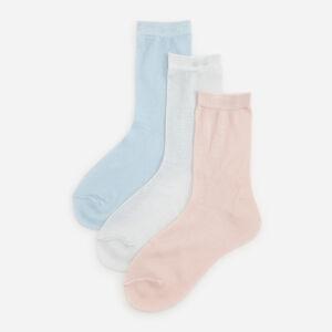 Reserved - Súprava 3 párov ponožiek s metalickou niťou - Oranžová
