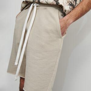 Reserved - Teplákové šortky z organickej bavlny - Béžová
