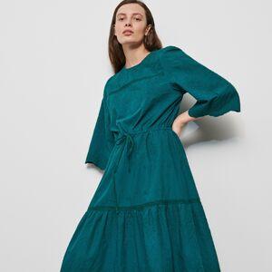 Reserved - Šaty s výšivkou - Khaki