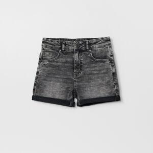 Reserved - Denimové šortky s vypraným efektom - Šedá