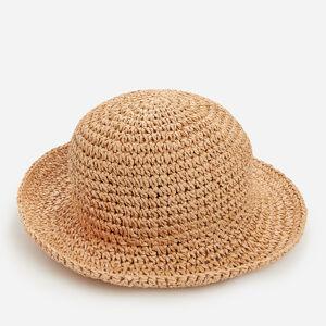 Reserved - Pletený klobúk z papierovej slamy - Béžová