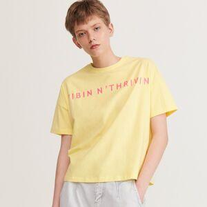 Reserved - Tričko s nápisom - Žltá