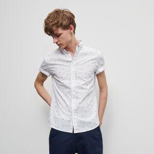 Reserved - Košeľa s jemnou potlačou - Biela