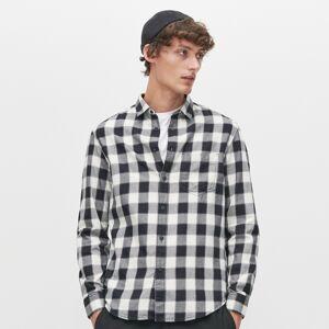 Reserved - Kockovaná košeľa - Biela