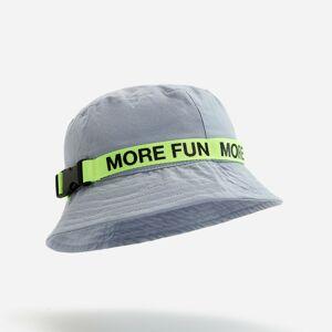 Reserved - Bavlnený klobúk typu bucket s ozdobným pruhom - Svetlošedá