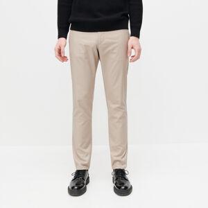 Reserved - Bavlnené chino nohavice slim fit - Béžová