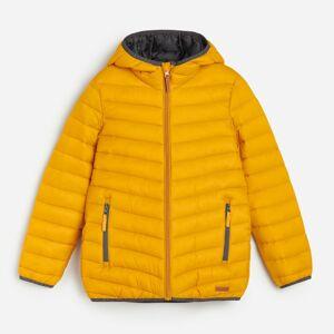 Reserved - Prešívaná bunda s kapucňou - Žltá