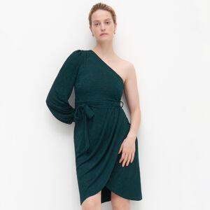 Reserved - Šaty na jedno rameno - Khaki