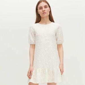 Reserved - Úpletové šaty - Krémová