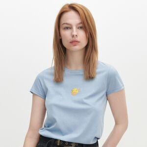 Reserved - Tričko z organickej bavlny - Modrá