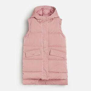 Reserved - Prešívaná vesta s kapucňou - Ružová