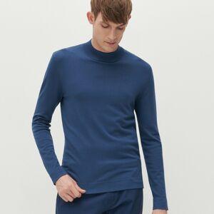 Reserved - Hladký sveter so stojačikom - Modrá