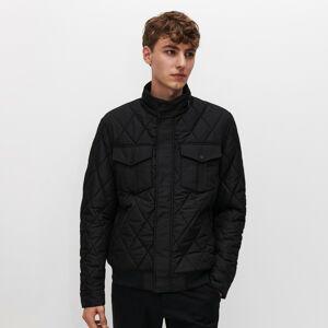 Reserved - Prešívaná bunda so stojačikom - Čierna