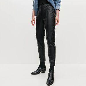 Reserved - Nohavice z umelej kože - Čierna