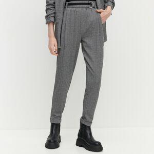 Reserved - Nohavice s vysokým pásom - Čierna