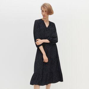 Reserved - Bodkované šaty - Čierna