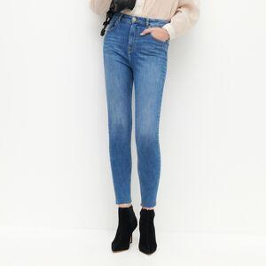 Reserved - Džínsy slim s vysokým pásom - Modrá