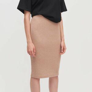 Reserved - Úpletová sukňa - Béžová