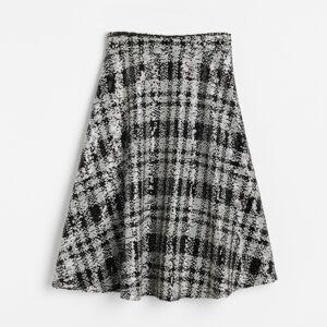 Reserved - Flitrovaná károvaná sukňa - Čierna