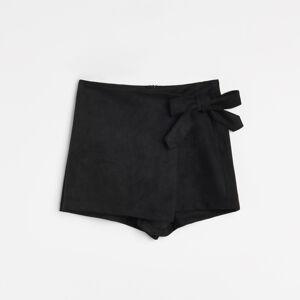 Reserved - Prekladané šortky - Čierna