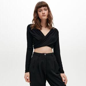 Reserved - Tričko s dlhými rukávmi - Čierna
