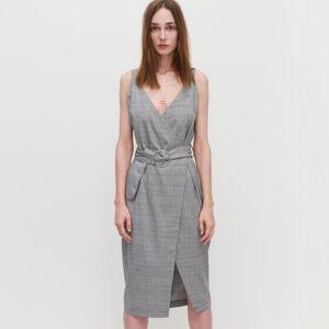 Reserved - Prekladané šaty - Svetlošedá